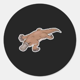duckbilled platypus round stickers