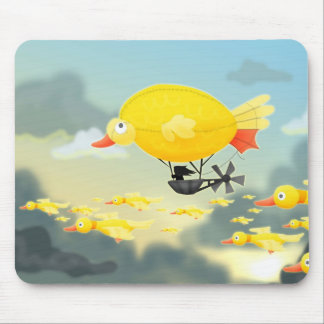 Duckie Airship Mouse Pad