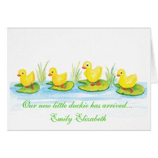 Duckie Birth Announcement