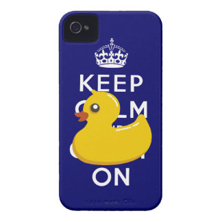 Duckie de goma guarda calma y continúa el caso del carcasa para iPhone 4