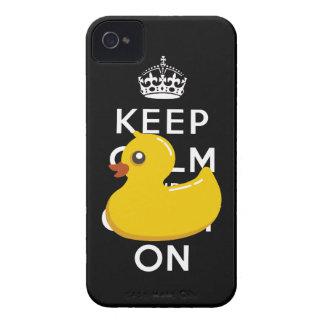 Duckie de goma guarda calma y continúa el caso del iPhone 4 cárcasas