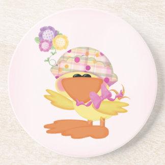 Duckie Girl Drink Coaster