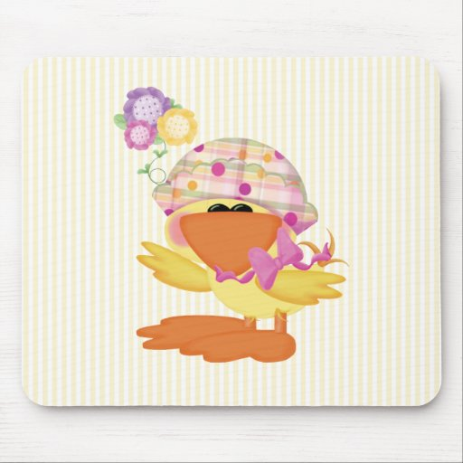 Duckie Girl Mouse Pad
