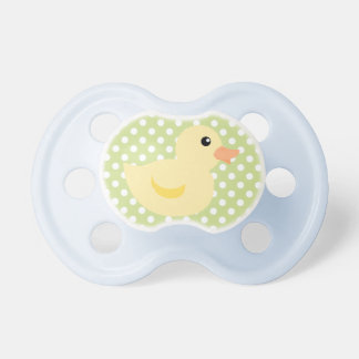Duckie on Dots Baby Pacifiers
