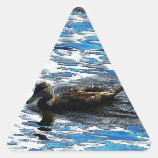 Duckie Pegatina Triangular