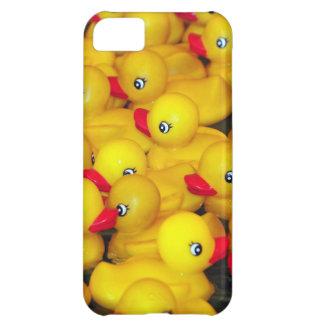 Duckies de goma amarillos lindos funda para iPhone 5C