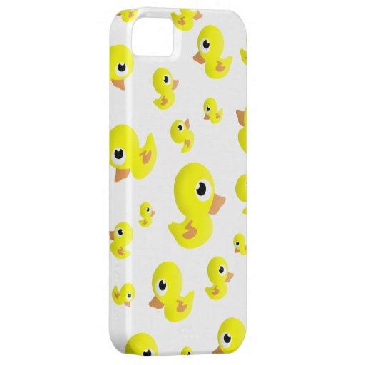 Duckies de goma por todas partes funda para iPhone 5 barely there