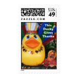 Duckies Give Thanks - (Medium Vertical) Postage Stamp