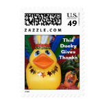 Duckies Give Thanks - (Small Vertical) Stamps