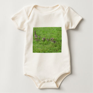 Duckies in the Grass Baby Bodysuits