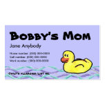 Duckin' Along Mom Card Business Card Templates