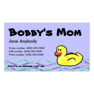 Duckin' Along Mom Card Double-Sided Standard Business Cards (Pack Of 100)