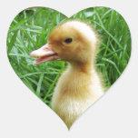 Ducking in the Grass Heart Sticker