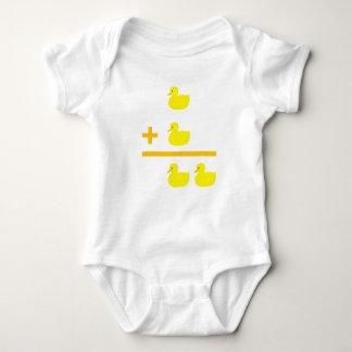 Duckling addition 1 plus 1 baby bodysuit