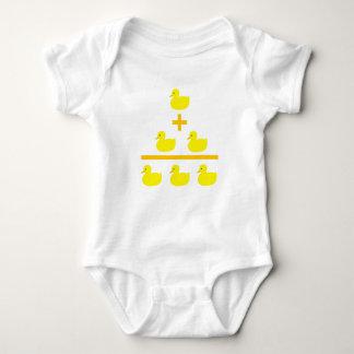 Duckling addition 1 plus 2 baby bodysuit