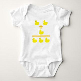 Duckling addition 2 plus 1 baby bodysuit