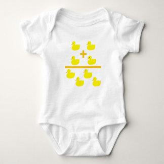 Duckling addition 2 plus 2 baby bodysuit