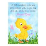 Duckling and Butterflies Baby Shower Invite Girls