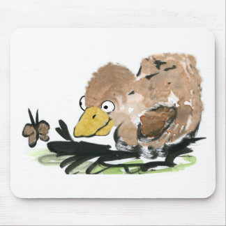 Duckling and Butterfly  - Sumi-e Mouse Pad