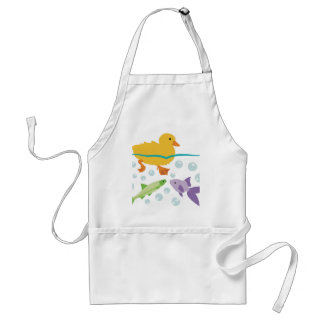 Duckling and Fishes Adult Apron