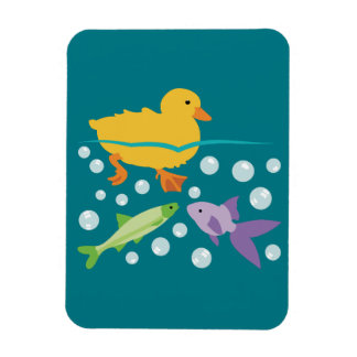 Duckling and Fishes Magnet
