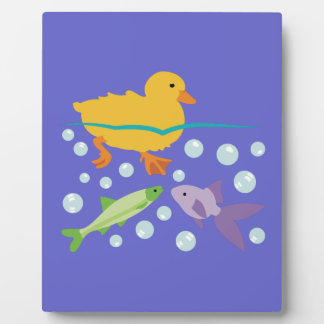 Duckling and Fishes Plaque