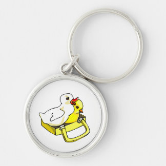 duckling chick in suitcase keychain