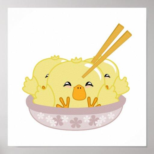 Duckling Dumplings Posters