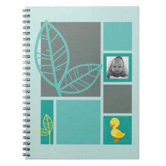 Duckling green notebook