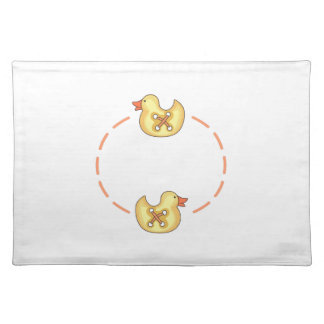 DUCKLING NAME DROP CLOTH PLACEMAT