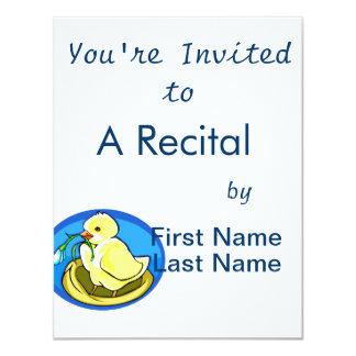 duckling next flower blue oval card