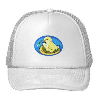 duckling next flower blue oval trucker hat