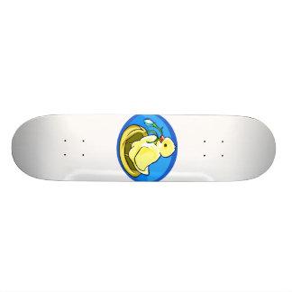 duckling next flower blue oval skate board deck