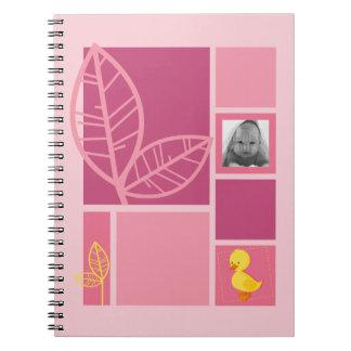Duckling pink notebook