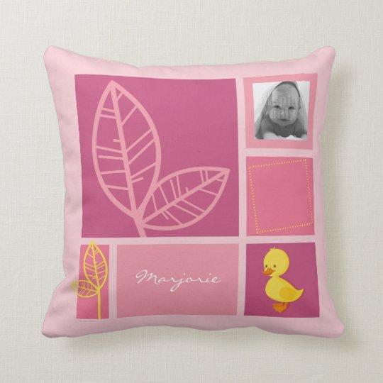 Duckling pink pillow