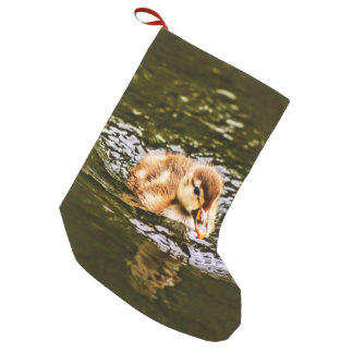 duckling small christmas stocking