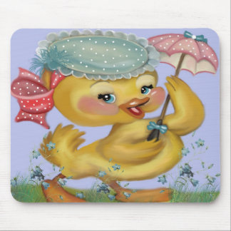 duckling with parasol mouse pad