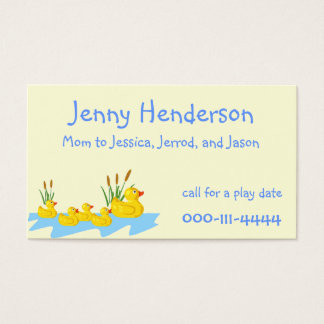 Ducklings Mommy calling card