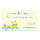 Ducklings Mommy calling card Business Card Template