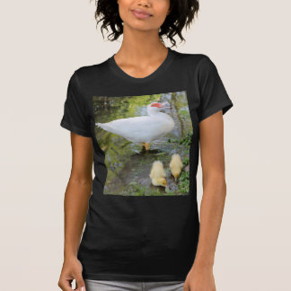 ducks and chiks on lake T-Shirt