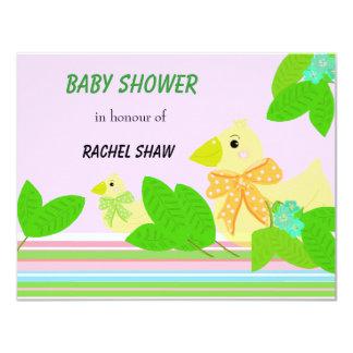 Ducks and Greenery Baby Shower Card