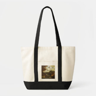 Ducks and other birds about a stream in an Italian Tote Bag