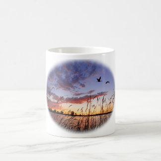 Ducks at Dawn-Duck Hunting Classic White Coffee Mug