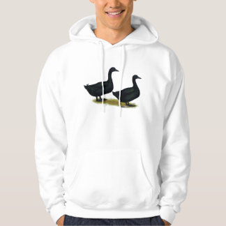 Ducks:  Black Cayugas Hoodie