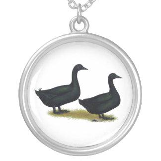 Ducks:  Black Cayugas Custom Necklace