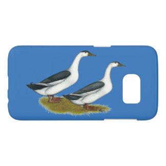 Ducks:  Blue Magpies Samsung Galaxy S7 Case