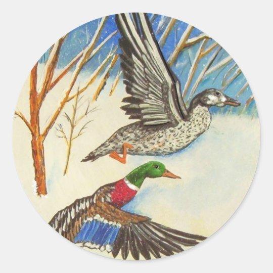 Ducks Classic Round Sticker