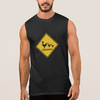 Ducks Crossing, Traffic Warning Sign, Australia Sleeveless Shirt
