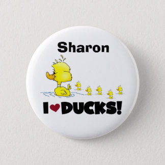 Ducks Duckie Yellow Duck Animals Kids Love Ducks Pinback Button