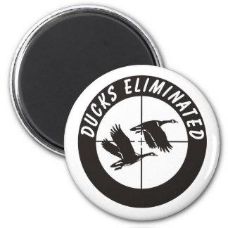 ducks_eliminated 2 inch round magnet